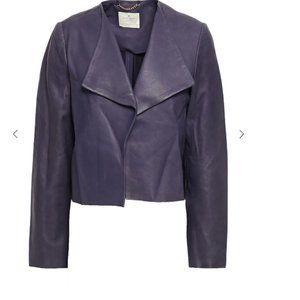 kate spade Draped leather jacket size xs nwot